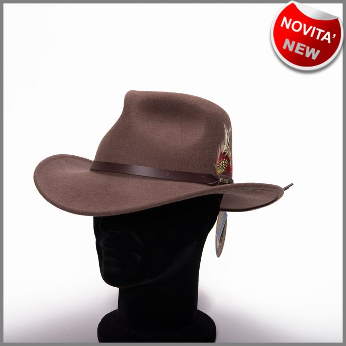 Crushable kaky outback hat