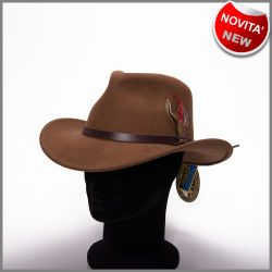 Crushable pecan outback hat