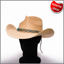 Cappello pinch front natural