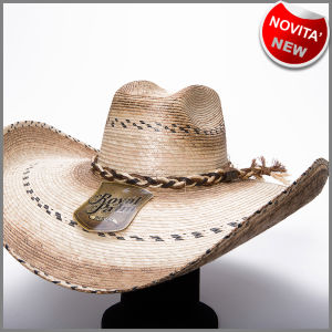 Eight seconds rodeo hat in palm leaf