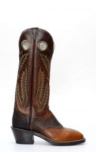 Stivali Texani Tony Lama stile buckaroo testa di moro
