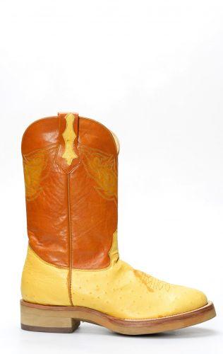 Cuadra bottes de travail en cuir d'autruche
