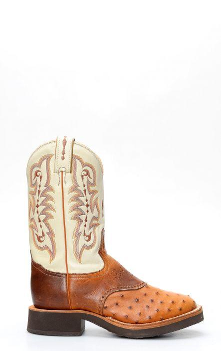 Stivali Tony Lama rooper in spalla di struzzo