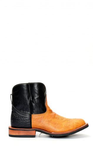 Jalisco short work boots in light color bison leather