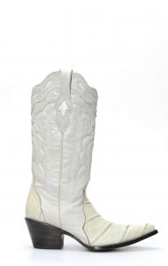Cuadra boots in white and leather