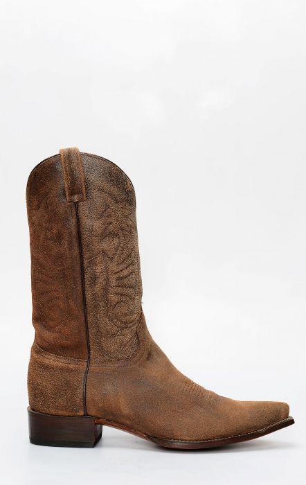 Stivali Jalisco in pelle rovesciata tacco dritto e punta