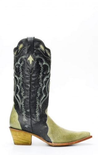 Cuadra boots in ostrich belly leather