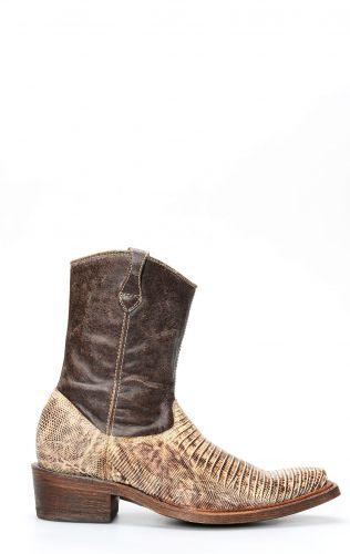 Cuadra bottines en peau de lézard