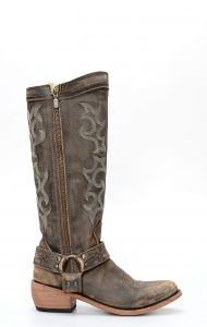 Liberty Black boots in aged leather