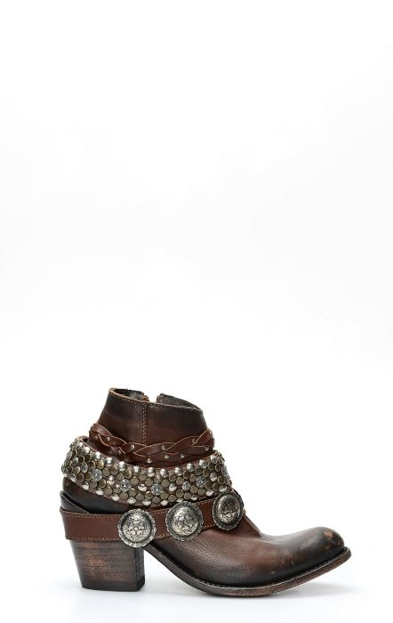 Liberty Black Boot Dark Brown with straps