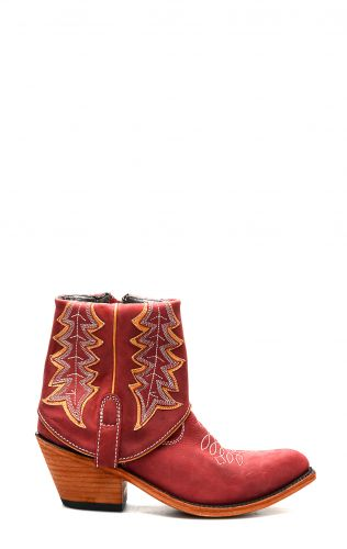 Bootie Liberty Black red aged