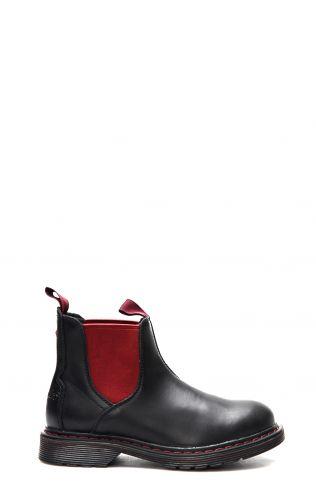 Wrangler Rocky Chelsea bottine noir et rouge