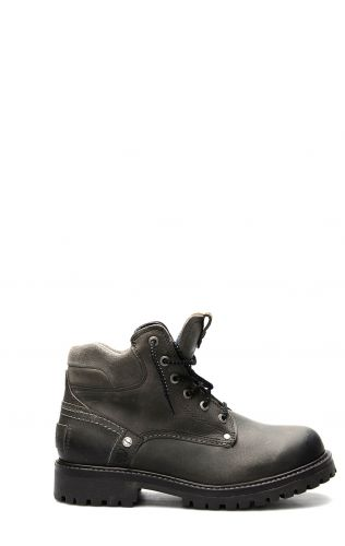 Wrangler Yuma ankle boot with laces in dark gray