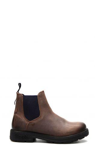 Wrangler Buddy boot in mahogany and blue