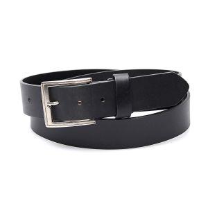 Cintura nera in vera pelle; top tra le cinture western