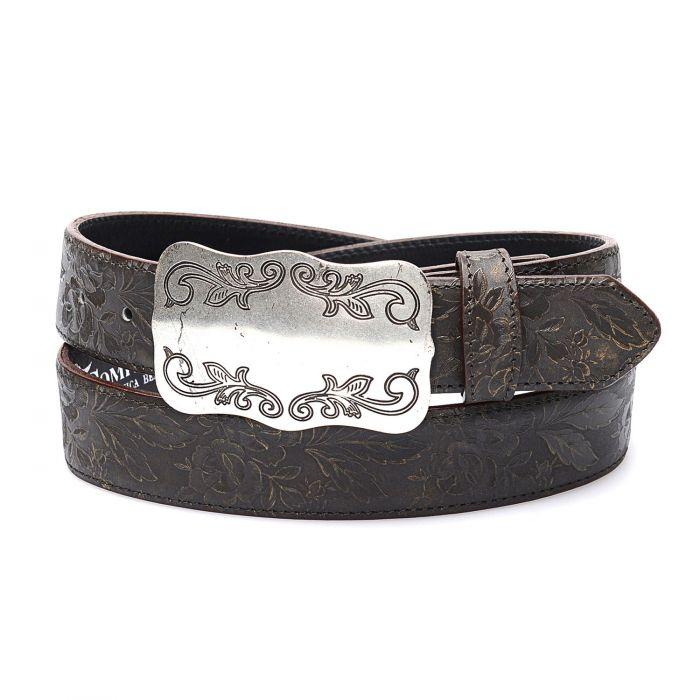 Cintura testa di moro in vera pelle; top tra le cinture western