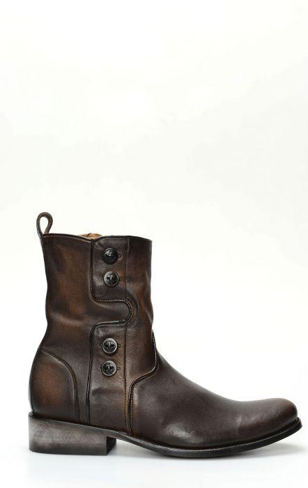 Cuadra brun bottine avec zip