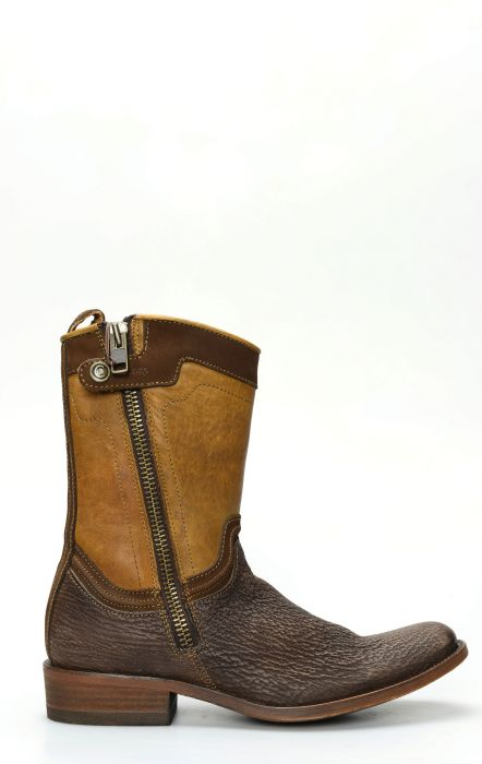 Cuadra bottines en cuir Shark marron foncé
