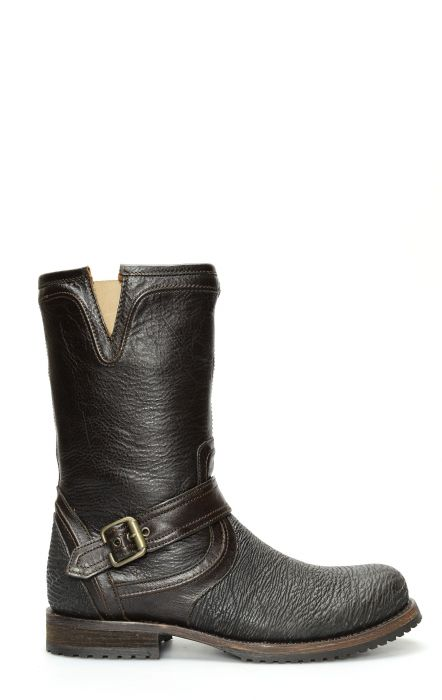 Cuadra ankle boot in dark brown and black Shark leather