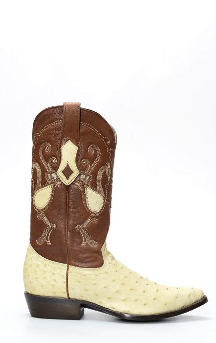 Cuadra boot en cuir d'épaule d'autruche