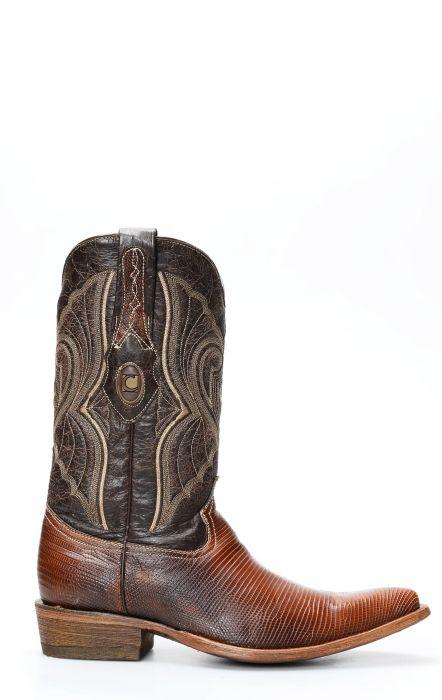 Cuadra boot en cuir de lézard avec une finition rustique