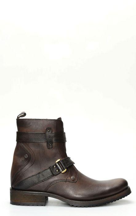 Short boots by Cuadra Crust Wax Caffè