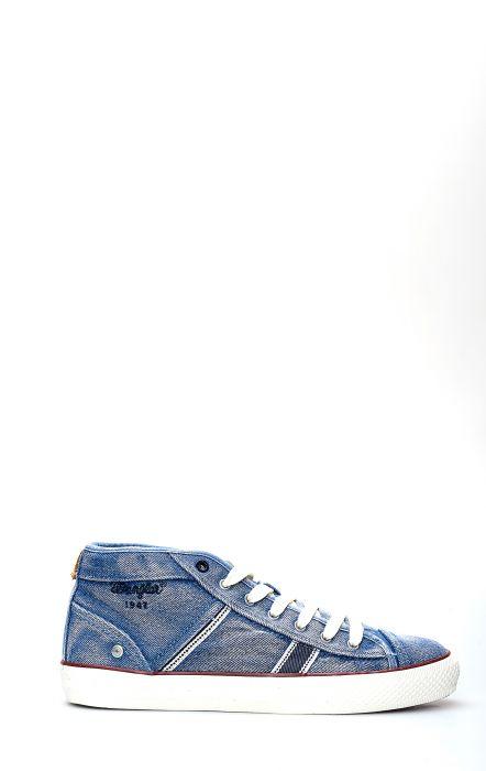 Sneakers Wrangler Starry Mid Denim Light Blue