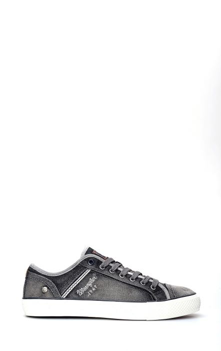 Wrangler Starry Low Denim Gray Tennis Shoe