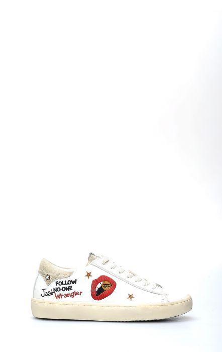 Scarpa da Tennis Wrangler Clever Lips Bianco