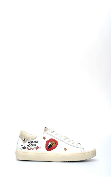 Wrangler Clever Lips White Tennis Shoe
