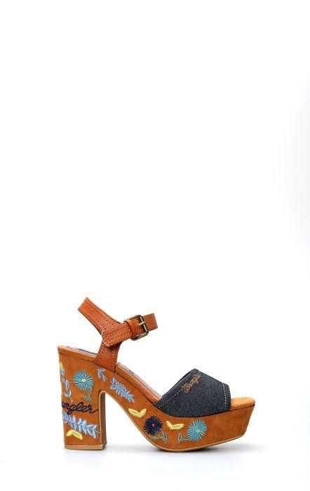 Wrangler Festival Grace Blau Sandale Schuh