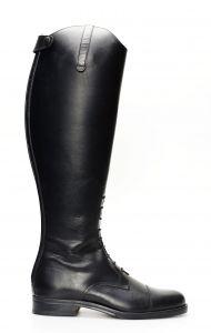 English black horse boot