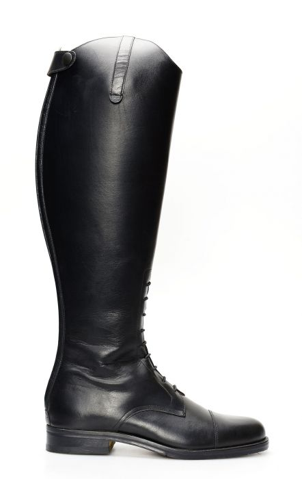 English black horse boot
