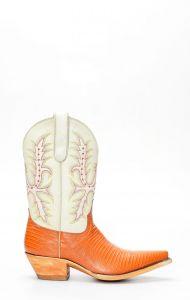 Stivali Texani Jalisco in vera pelle con stampa lucertola