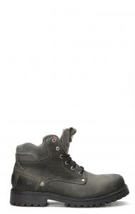 Wrangler Yuma Fur ankle boot with laces in dark gray