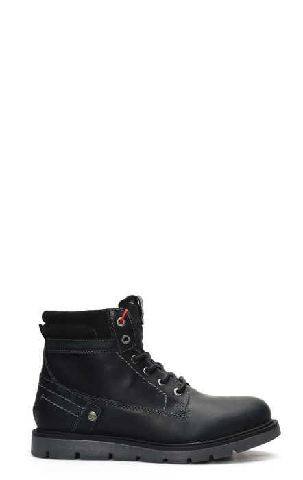 Wrangler Tucson ankle boot with laces in dark gray