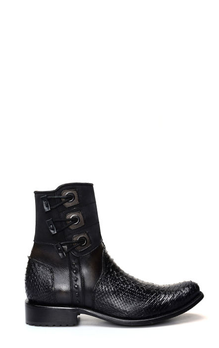 Cuadra python ankle boot