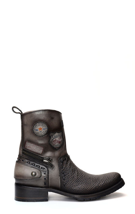 Cuadra ankle boot in shark leather