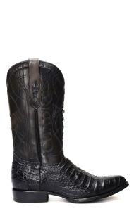 Stivali Texani Cuadra pelle di Coccodrillo colore nero
