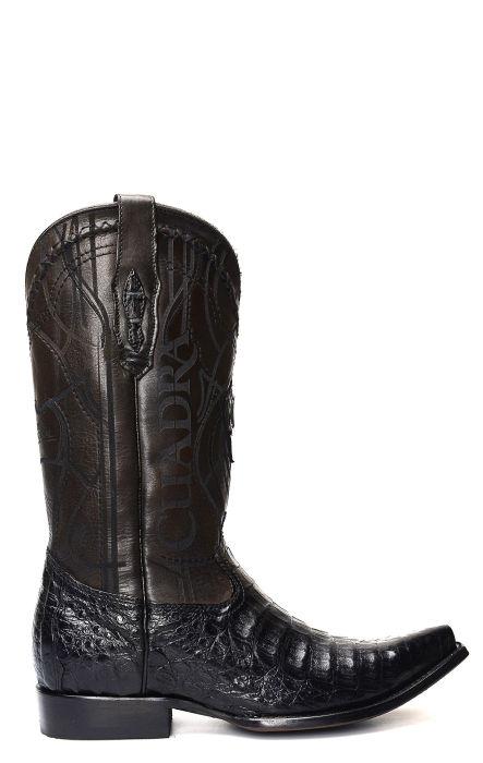 Stivali Texani Cuadra neri in pelle Coccodrillo