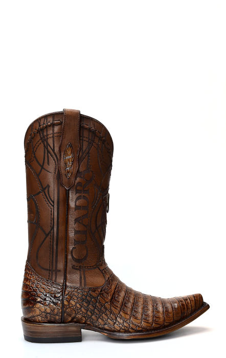 Cuadra boot in crocodile leather