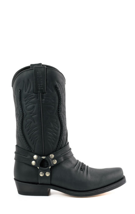 Crazzy horse leather biker boots by Mayura