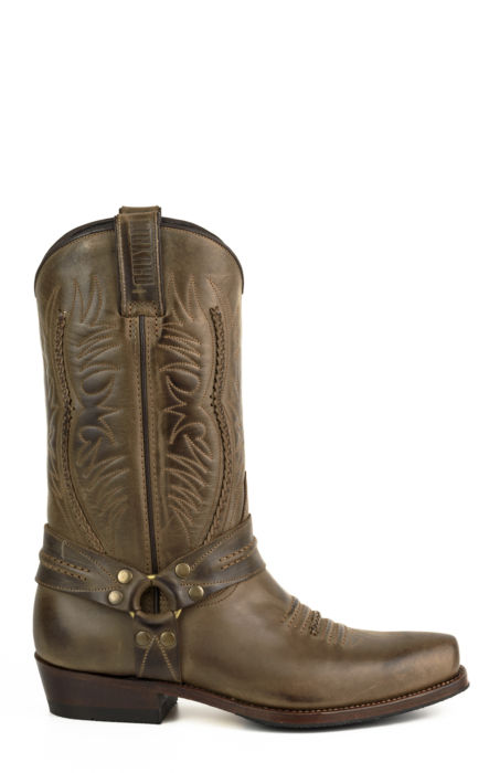 Crazy Old Leather Biker Boots By Mayura
