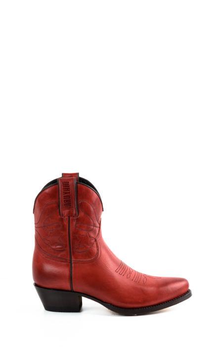 Stivali Texani corti  rosso