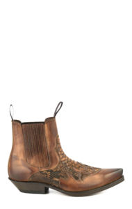 COGNAC LEATHER/ PYTHON LEATHER BOOT