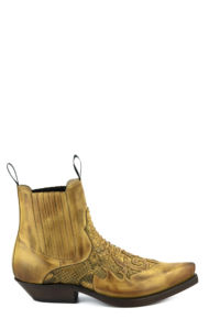 ANKLE BOOT COLOUR LEATHER/NATURAL PYTHON