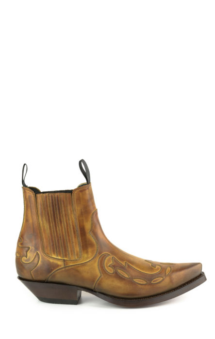 Bottines Mayura en cuir de veau marron clair