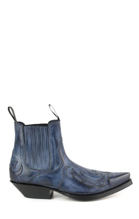 Botte de cheville Mayura veau bleu