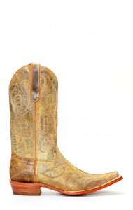 Stivali Jalisco texano speciale in pelle invecchiata spazzolata chiara