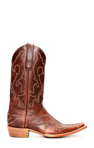 Dark brown Jalisco boots with embroidery